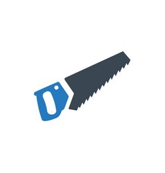 Handsaw sawing icon vector