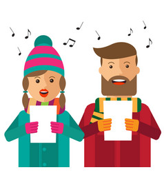 Hipster carols on white background vector