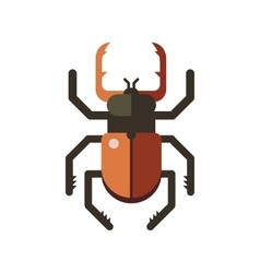 Insect icon flat isolated on white background vector