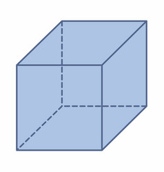 isolated cube vector image