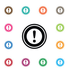 isolated danger icon road sign element can vector image