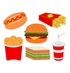 Isolated fast food menu icon vector