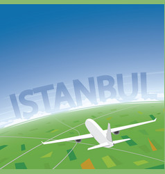 Istanbul flight destination vector