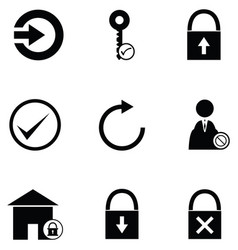 Login icon set vector