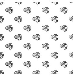 machine brain pattern seamless vector image