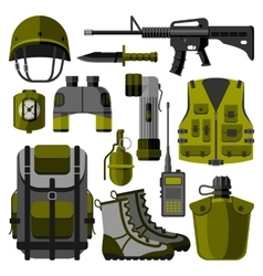 military weapon guns symbols vector image