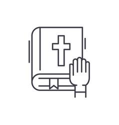 Oath line icon concept oath linear vector