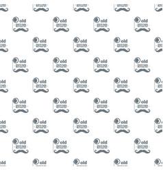 old gentlemen pattern seamless vector image