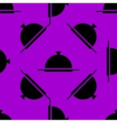 Restaurant cloche web icon flat design Seamless vector