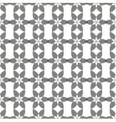 Seamless crossing floral grey pattern vector
