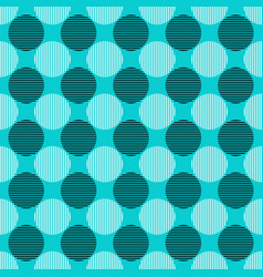 Seamless geometrical circle pattern background vector