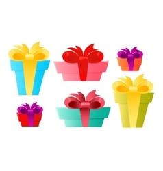 Set gift box vector image