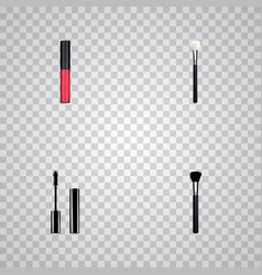set of greasepaint realistic symbols with face vector image