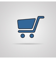 Shopping cart icons - signs for online purchases vector