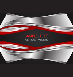 silver red and black color abstract background vector image