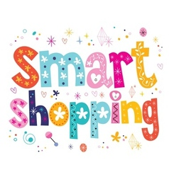 smart shopping vector image