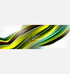 smooth liquid blur wave background color flow vector image