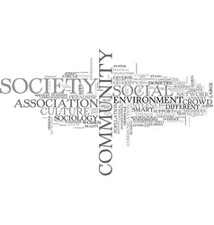 society word cloud concept vector image vector image
