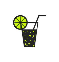 Soda lemon icon vector