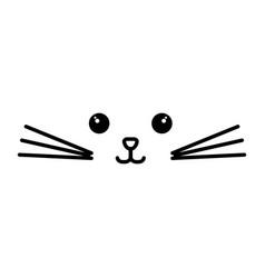 Stuffed animal cat vector