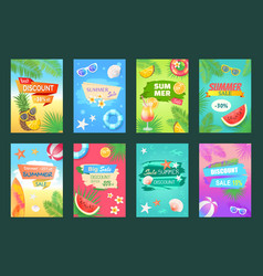 summer sale best discount set vector image