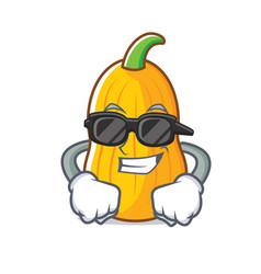 Super cool butternut squash character cartoon vector