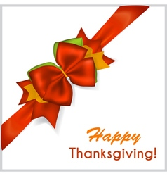 Thanksgiving red bow vector
