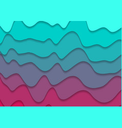 turquoise and pink corporate waves abstract vector image