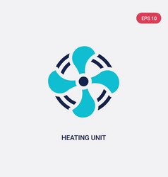 Two color heating unit icon from furniture and vector