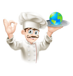 World on a plate vector