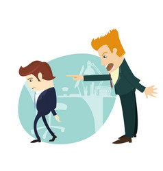 You are fired angry businessman screaming vector