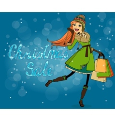 Christmas discounts vector image