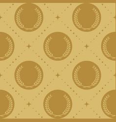 laurel wreath seamless pattern vector image vector image