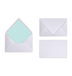 mock-up of light grey white or silver envelope vector image