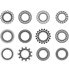 Set template in the form of a nice circle vector image vector image