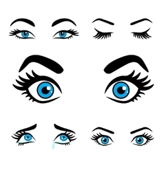 women eyes expressions set 2 vector image vector image