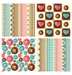 craft seamless pattern vector image