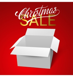 Open gift box template isolated on red background vector image vector image