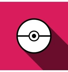 Pokeball icon isolated vector image vector image