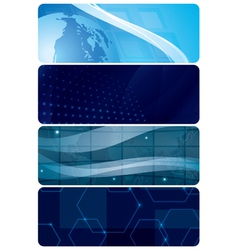 set of blue abstract horizontal backgrounds vector image