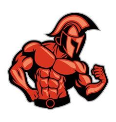 spartan muscle posing vector image vector image