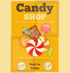 19 candy shop yellow vector image vector image