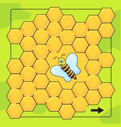 bee and honeycomb game for preschool children vector image vector image
