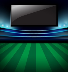 Football arena Soccer stadium and monitor design vector image