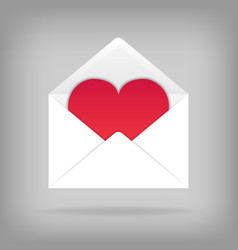 heart in the open envelope vector image