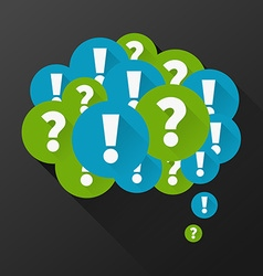Question and answers vector image