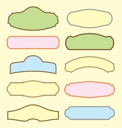 set of retro blank labels template vector image vector image