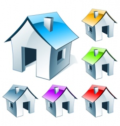 web icon house vector image vector image