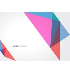 Abstract triangle geometric brochure template vector