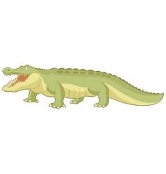 Cartoon green alligator vector image